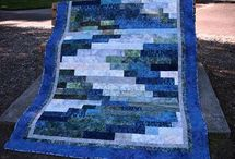 Patchwork bargello quilt