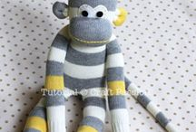 Stuffed animals / Sock monkey