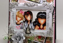 Julie Nutting Dolls- Mes créations/ My cards