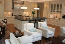 family room and kitchen decor