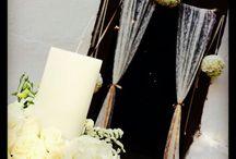 Διακόσμηση Γαμου στα χρώματα του λευκού και της καραμέλας