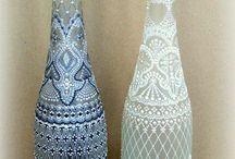 Lahve, sklenice, plechovky, košíky, kyblíky / Dekorované lahve, sklenice, plechovky, košíky, kyblíky, plastové krabičky ... drobnosti pro uložení maličkostí