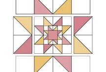 Mønster / Stjerne i lappeteknikk