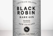 Black Robin Rare Gin / A premium quality rare gin bottled & distilled in New Zealand. With every bottle sold we make a donation to Forest & Bird. Drink responsibly.