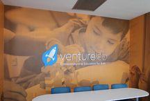 Interior Design / VentureLab wall graphic
