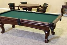 Pool Tables / There is a size, brand and style of pool table for EVERYONE - from pool shark to novice to a fun family night in the game room.
