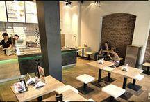 Interior / bistro, restaurant / eclectic and modern