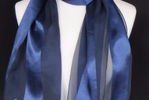 Ladies Navy Satin Scarf, ideal for choires