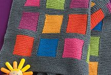 Knitted Blankets / Knitted blankets, throws and afghans.