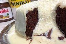 bolo vulcão de ninho com nutela