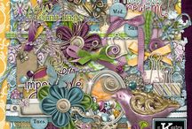 Full Size Digital Scrapbooking Kits by Kathryn Estry / Full Size Kits include papers and elements for digital scrapbooking.