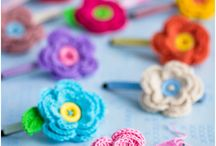 crochet hair clips etc