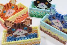 cat perler beads boxes