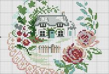 cross stitch nature