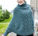 Knitting shawls and scarves