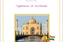 L'Inde, mystérieuse et envoûtante / Lapbook sur l'Inde, de l'Association Carpe Diem