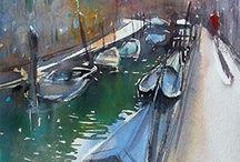 Boats / watercolour