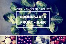 Grønnsaker på Norsk