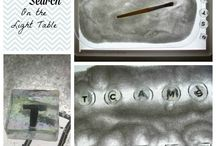 Light Table Activities / The amazing things you can do with a light table