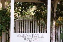 Floral Arch/Arch Ideas / Hang a frame from our floral arch for your guests to take photos in!!