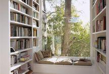 Arbetsrum, bibliotek