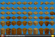pixel arts 3d vegetations