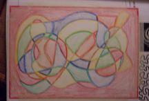 Tekeningen van Bas leerjaar 2 / mijn gemaakte tekeningen van 2013/2014