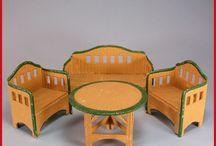 Pappe/ Geprägte Pappe/ Korbi- Karl Schreiter  dollshouse furniture