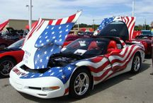 American Flag Waving Corvettes / by Corvette Blogger