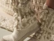 Zapatos de punto y ganchillo