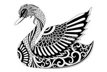 Cisnes para dibujarcisnes