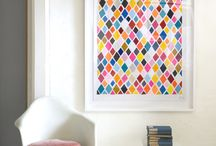 Geometric artworks - ideas and inspiration / Ideas for bringing geometric artworks into your space