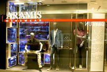 VM My Store / Vitrines com manequins, displays e tendências que a My Store traz para o Brasil.