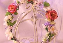 Flower headbands, wreaths - flower fairy hairpieces / beautiful handmade flower fairy headpieces for any occasions