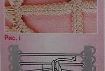 crochet con aguja pequeña