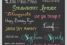 Fonts / by Jonna Ventura (Frayed Knot)