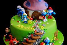 Şirinler (Smurf cake)