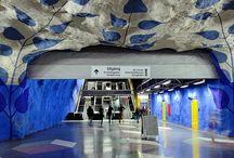 Estaciones de Metro para ver. / La vuelta al Mundo en metro: las 15 estaciones más modernas, coloridas y creativas del planeta.