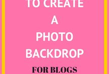 Blog Photography / How to take Beautiful Blog and Instagram Photos | Photo Backdrops