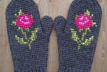 Πλέξιμο / Crochet mittens