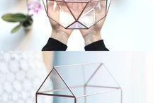 Květináče sklo kov