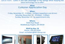 **UPDATE** Customer Appreciation Day / **UPDATE**  Customer Appreciation Day has moved to November 21-23, 2014 !  Update your calendars!  Hope to see you there :)   Details here:  http://bit.ly/AVIGcustomerappreciation