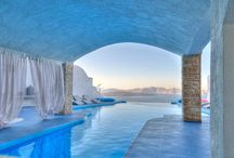 By the pool... / Experience the volcanic view of Santorini by the infinity pool of Astarte Suites...   http://goo.gl/mRWWe4