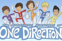 One Direction / One likes cats. One is a bit vain. One likes to do twitcams. One looks like he owns a boat. One is always hungry. You don't even understand my love for The Adventurous Adventures Of One Direction! <3 These boys changed my life and no matter what people say, no matter how many people criticize me, i will always love my five singing idiots <3 / by Jenna Slade
