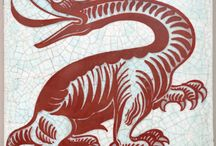 Dragons / A selection of dragons from the ceramics of William De Morgan and the oil paintings of Evelyn De Morgan. All images copyright of De Morgan Foundation.