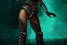 Charadesign / digital science fiction fantasy characters photoshop
