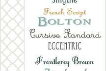 Fonts / by Amelia Harrison