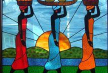 Paintings - African Women