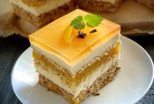 Ciasta z brzoskwiniami