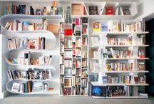 Book shelves. Boekenkast. Library.